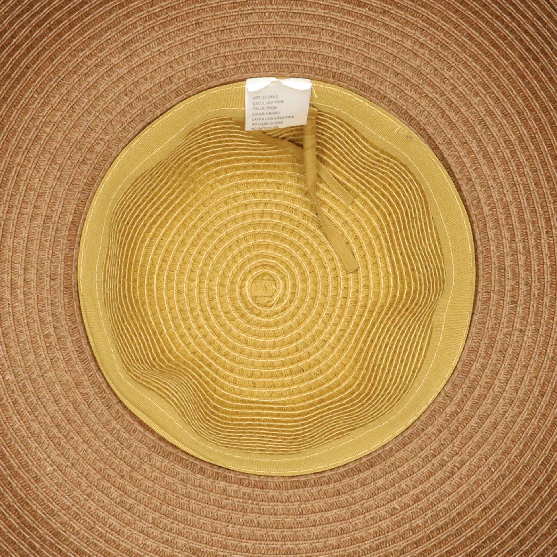 Sombrero capelina de adulto combinada de ala ancha