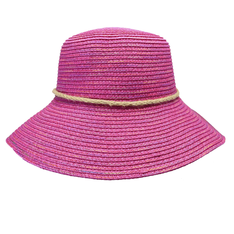 Sombrero capelina de adulto en celulosa multicolor.