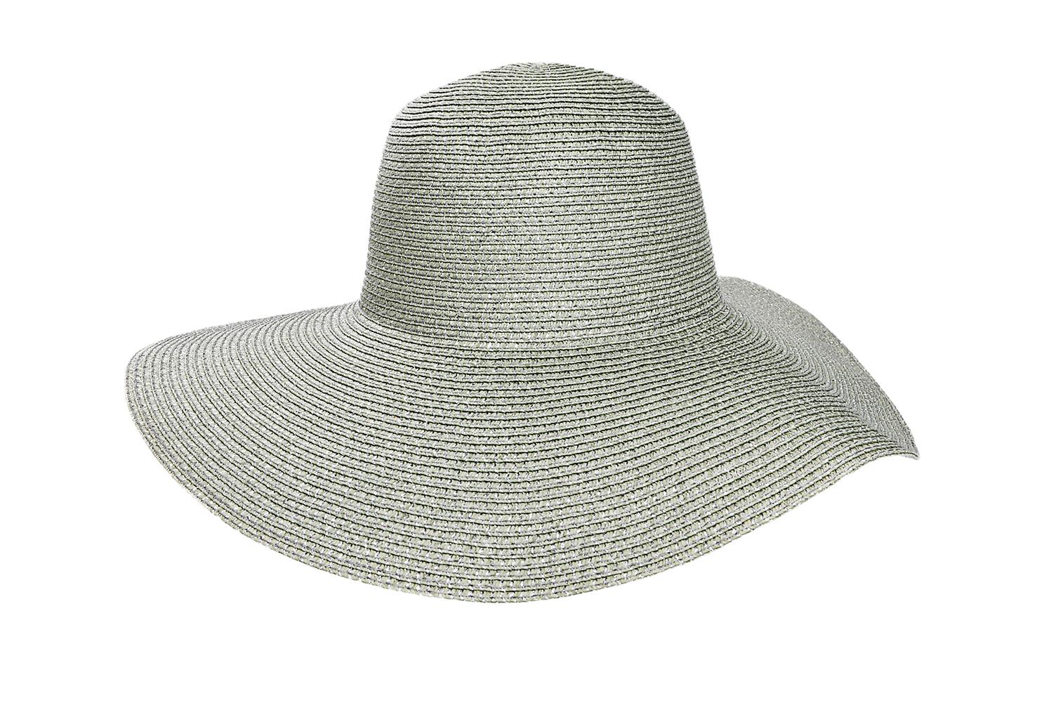 Sombrero Capelina de adulto en lurex con ala ancha.