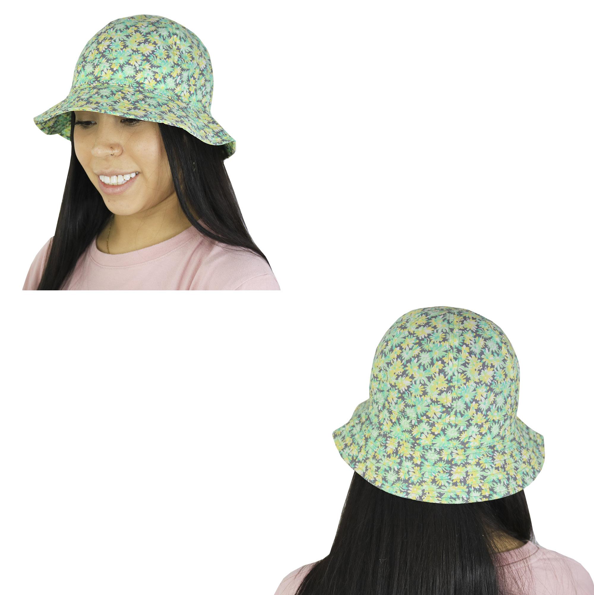 Sombrero piluso de adulto estampado floreado