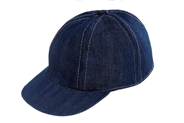 GORRA DE JEAN CON COSTURA A COLOR