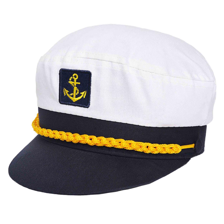 Gorra de capitán en tela de algodón.