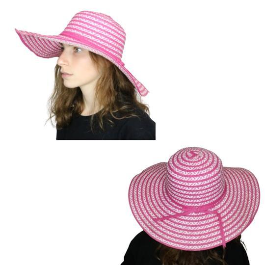 Sombrero capelina de adulto ala ancha con tejido zigzag
