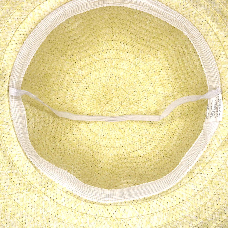 Sombrero capelina de adulto en dos tonos con detalle de cinta a cuadros en el ala.