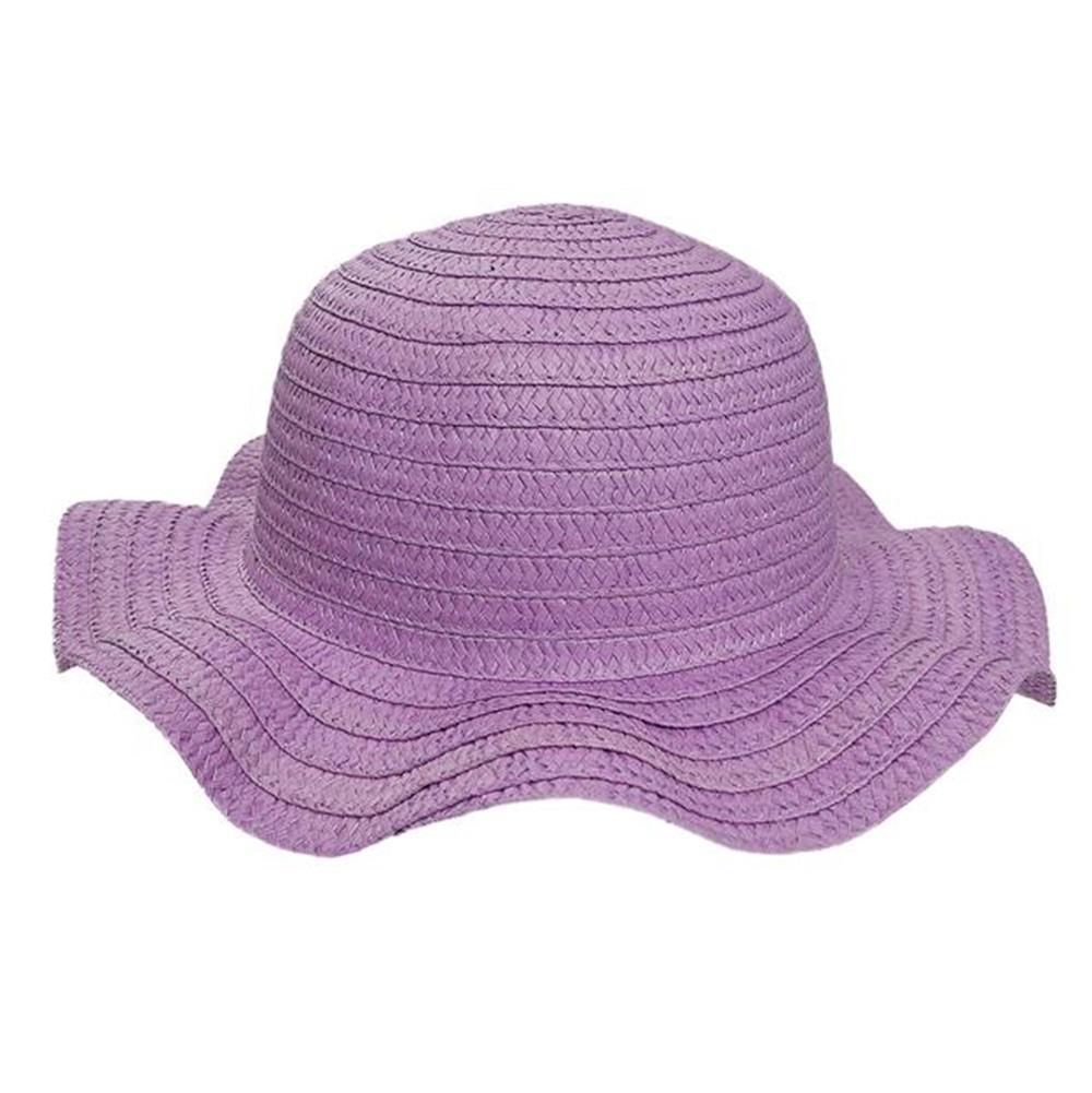 Sombrero capelina de niña ala curva
