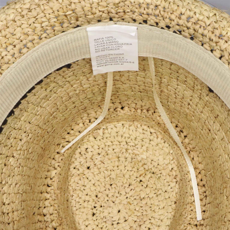 Sombrero unisex  para adulto fedora de raffia natural
