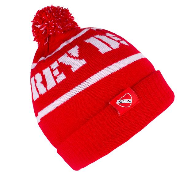GORRO DE LANA CON POMPON CLUB ATLETICO INDEPENDIENTE