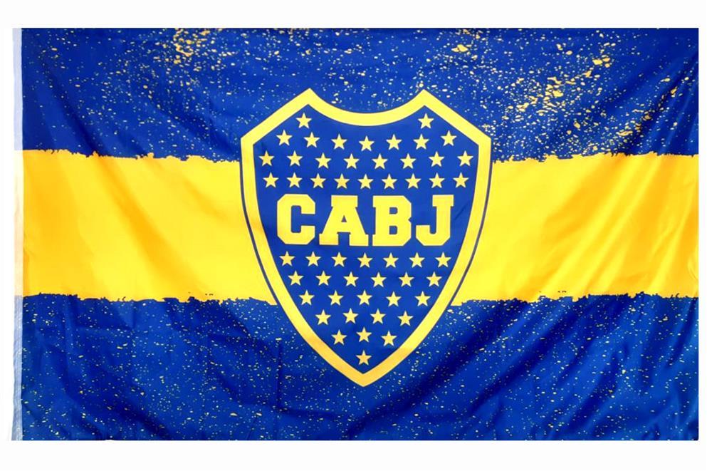 BANDERA ESCUDO CLUB ATLETICO BOCA JUNIORS