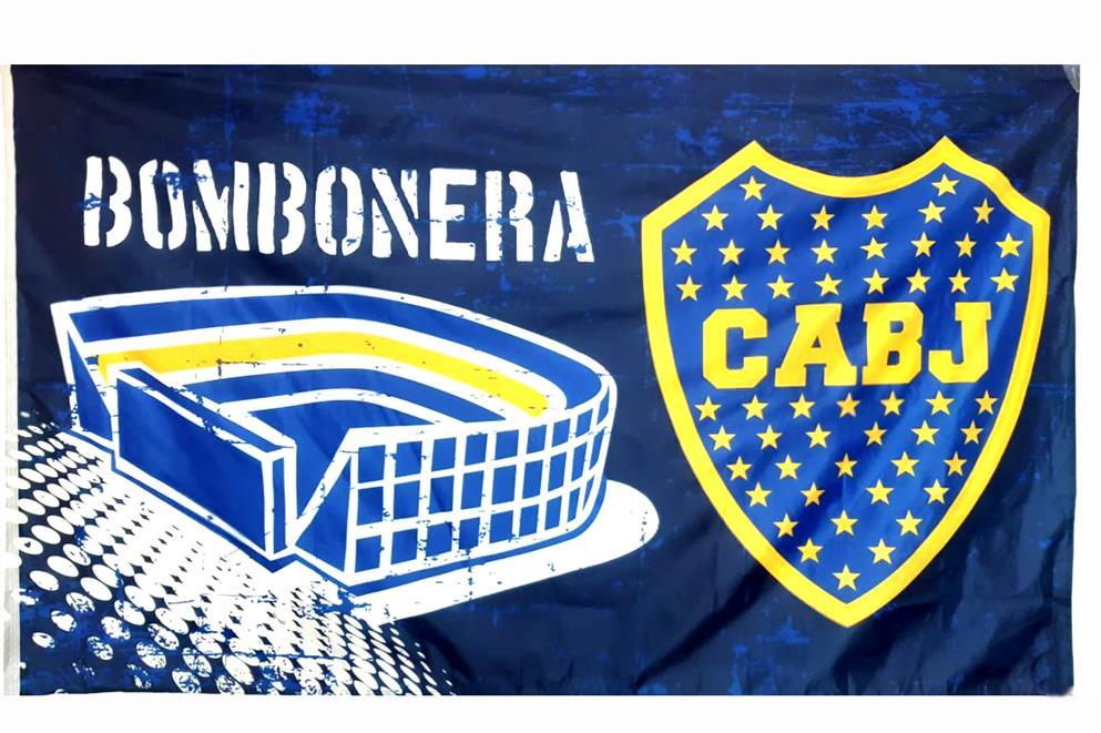 BANDERA BOMBONERA CLUB ATLETICO BOCA JUNIORS
