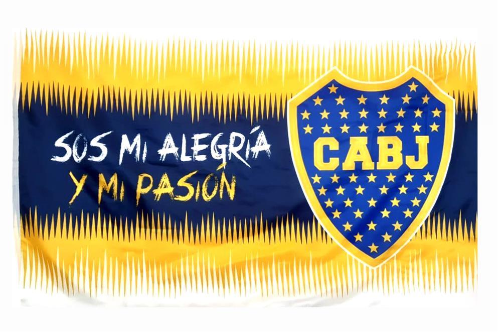 BANDERA SOS MI ALEGRIA Y MI PASION CLUB ATLETICO BOCA JUNIORS