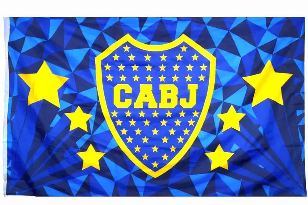 BANDERA ESCUDO ESTRELLAS CLUB ATLETICO BOCA JUNIORS