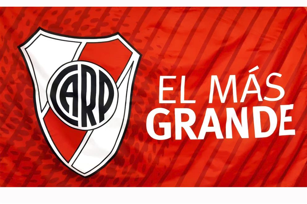 BANDERA EL MAS GRANDE CLUB ATLETICO RIVER PLATE
