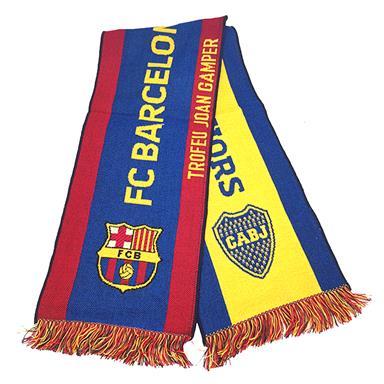 Bufanda Computarizada Boca Juniors y Barcelona FC