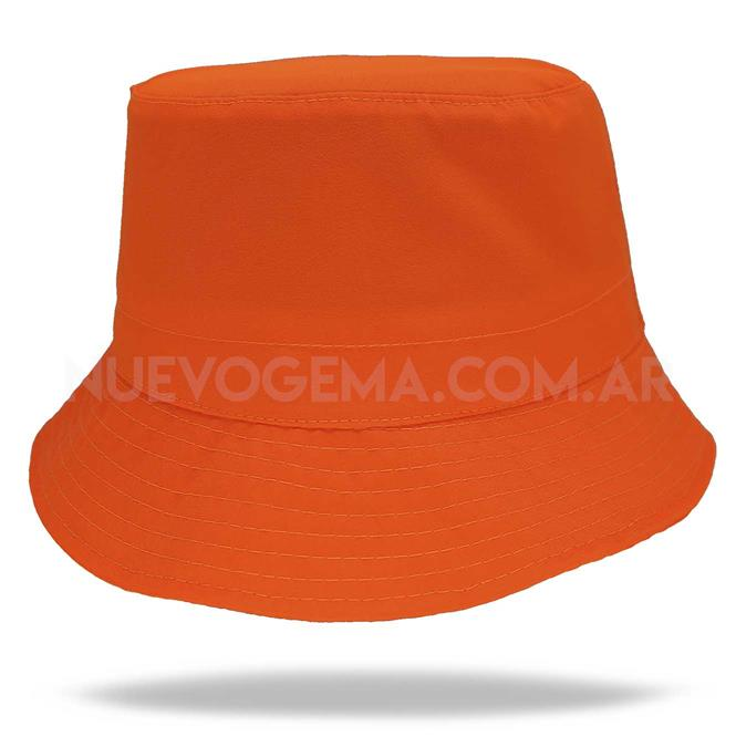 Sombrero piluso de adulto naranja fluo