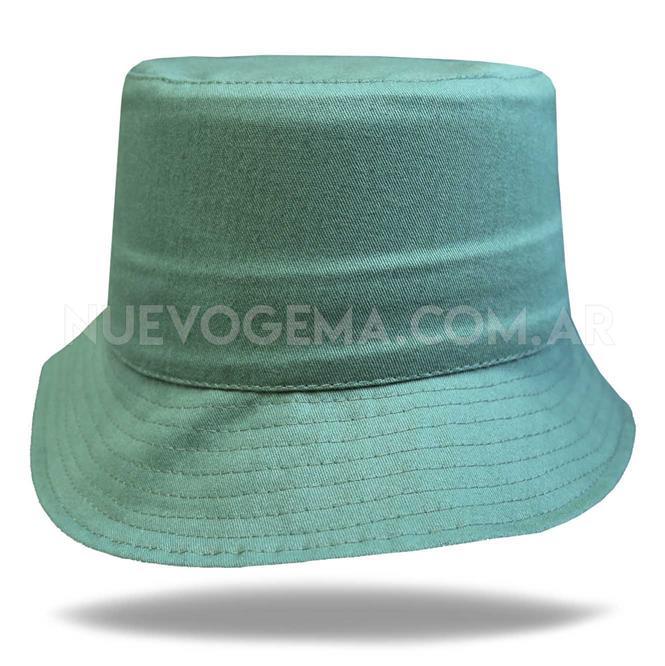 Sombrero piluso de adulto en gabardina verde