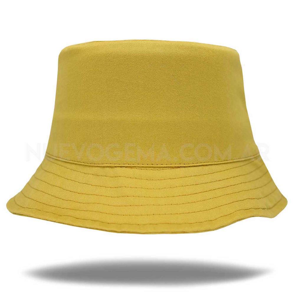 Sombrero piluso de adulto en gabardina amarillo