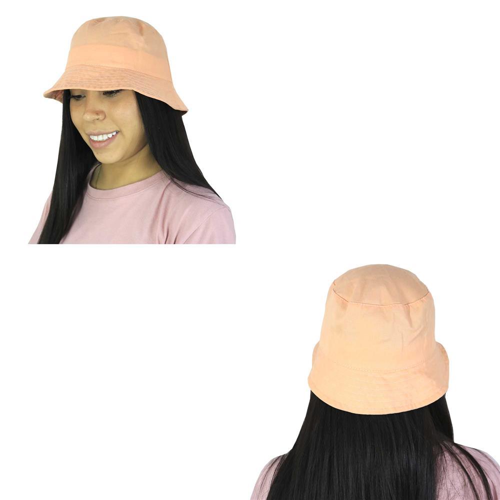 Sombrero piluso de adulto en gabardina salmón