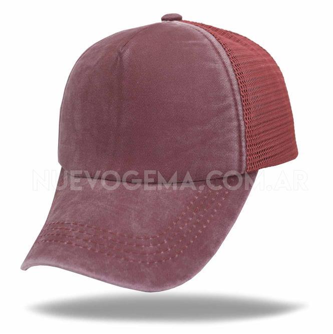 Gorra de adulto trucker pigmentada visera curva