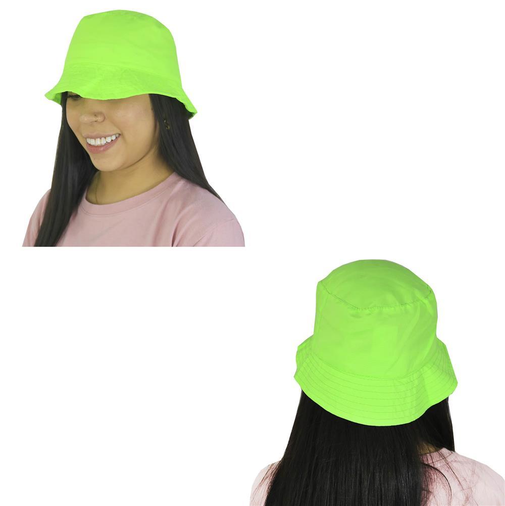 Sombrero piluso de adulto en verde fluo