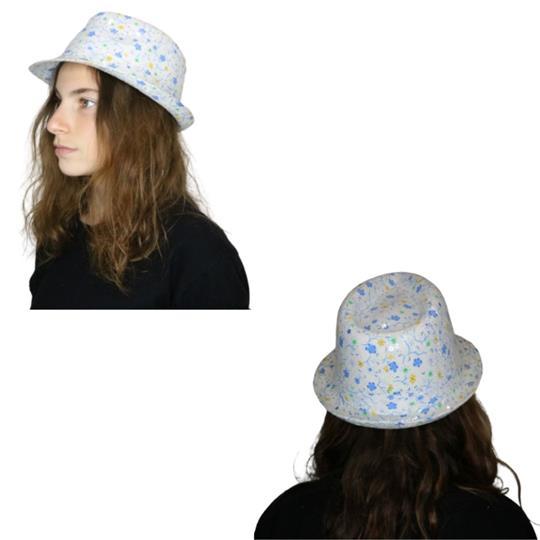 Sombrero Gardelito de adulto estampado con lentejuelas