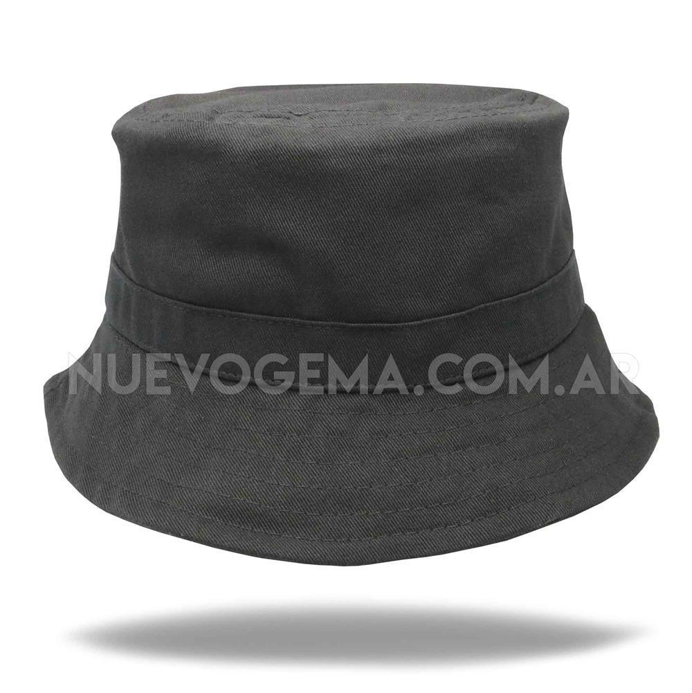 Sombrero piluso de adulto en gabardina negro