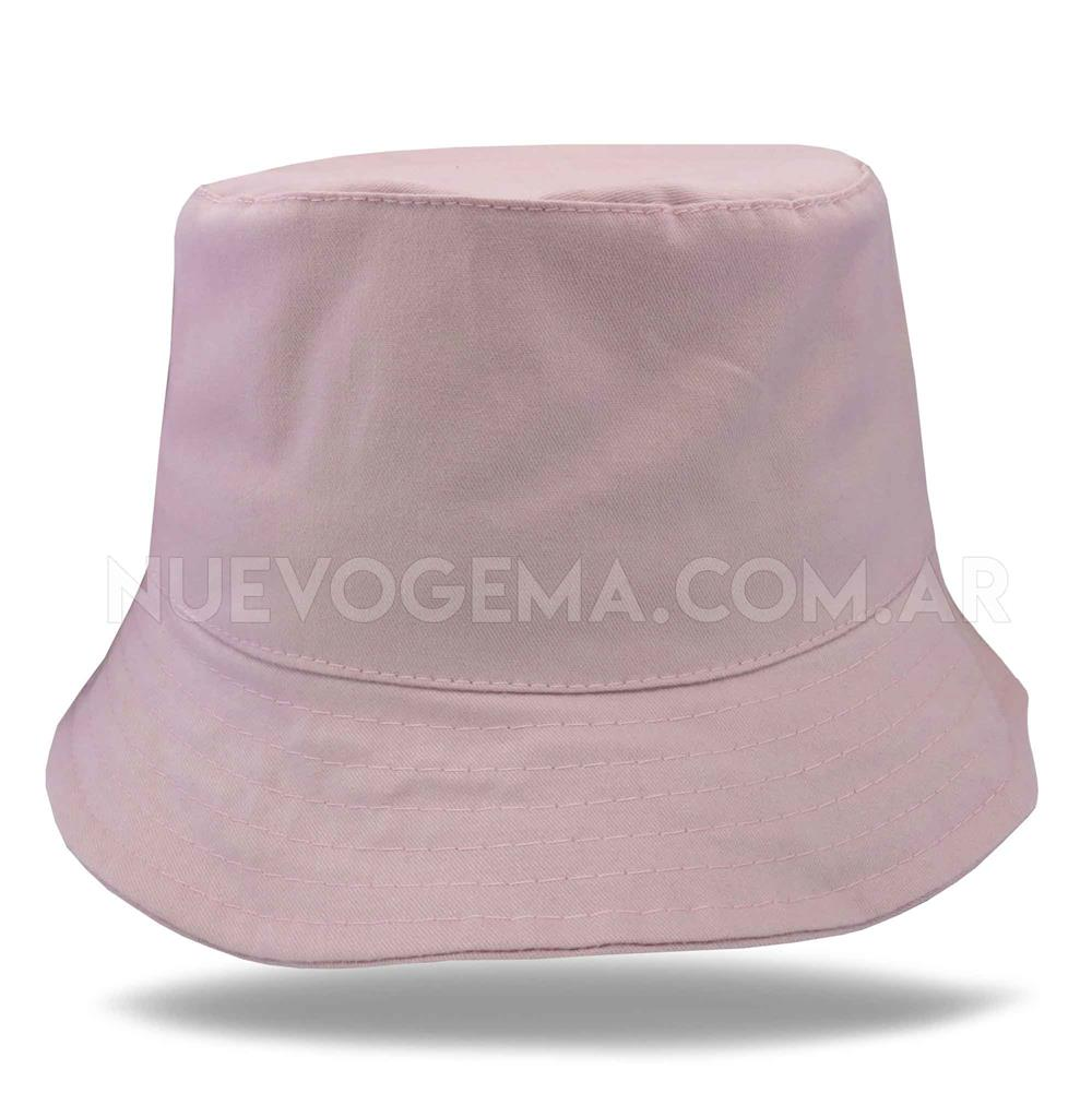 Sombrero piluso de adulto en gabardina rosa viejo