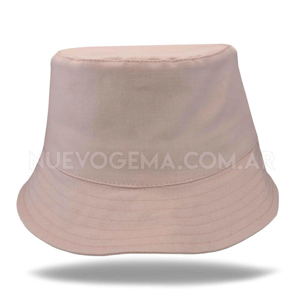 Sombrero piluso de adulto en gabardina rosa sepia