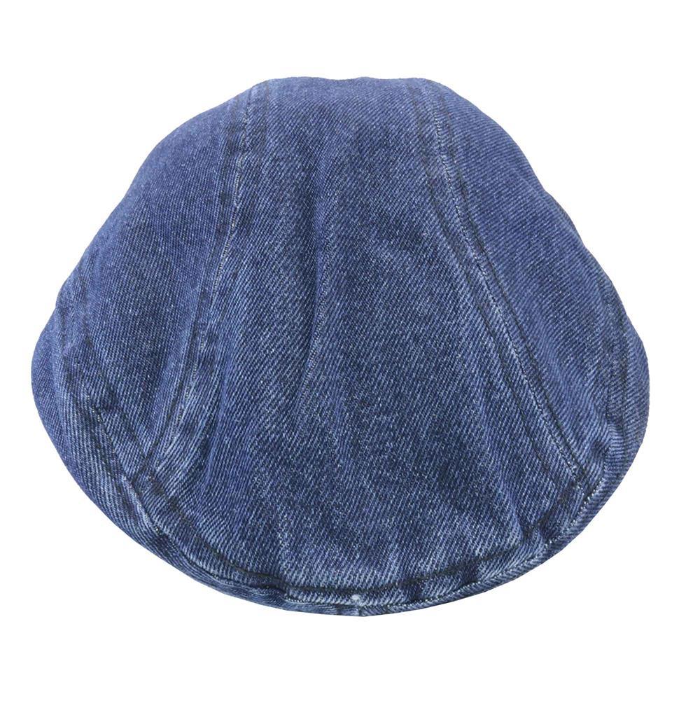 Boina con visera en jean azul
